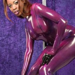 latex catsuit model